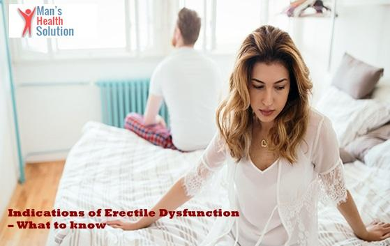 Indications of Erectile Dysfunction | ManHealthSolution -