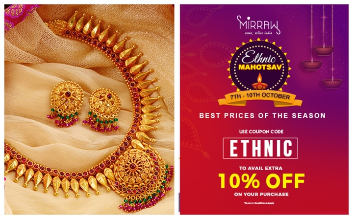 Flat 50% Off on Indian Jewellery at Mirraw Ethnic Mahotsav