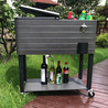 The cooler cart with wheels is very suitable for outdoor use
