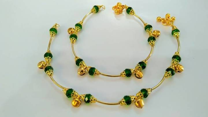 Buy Girls Green Anklets Online at Best Prices