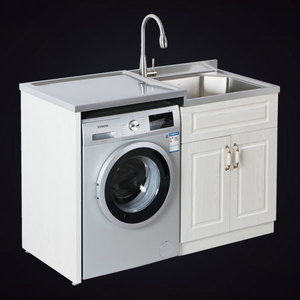 One-Stop Design Of Stainless Steel Laundry Cabinet Is Especially Suitable For Small Apartment