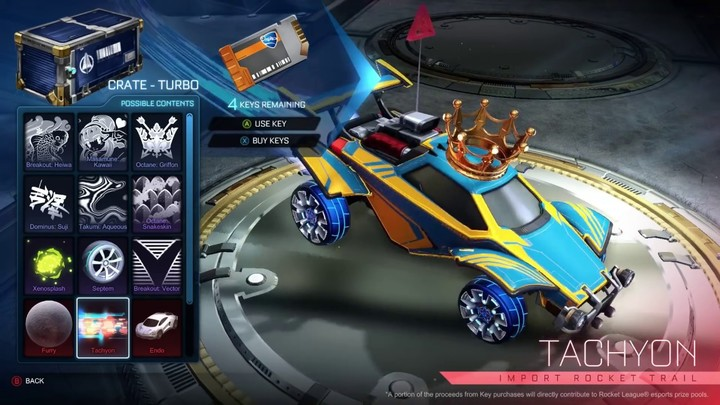 Rocket League's latest aloft amend assuredly brings